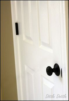 Paint Brass Doorknob And Hinges To Have An Oil Rubbed Bronze Finish!