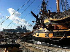 HMS Ark Royal and HMS Victory