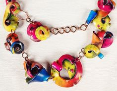Polymer clay, necklace by ImpastArte Polymerclay