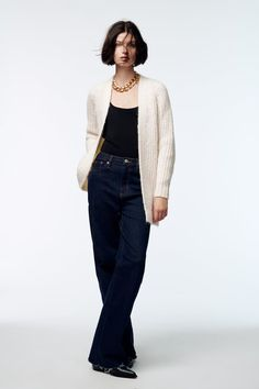 Bell Bottoms, Bell Bottom Jeans, Zara, Normcore, Suits, Style, Fashion, Knit Cardigan, Full Sleeves