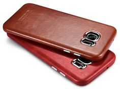 iCarer Samsung Galaxy S7 Edge Vintage Back Cover Series Genuine Leather Case