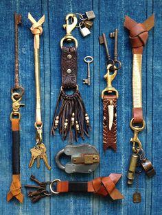men's keychains via Den & Delve Shop Accessories