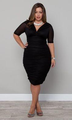 Black Dress For Plus Size