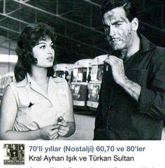 Ayhan ışık ile Türkan Şoray..