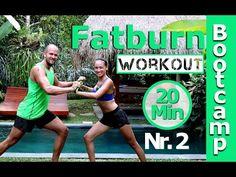 HIIT Workout - 20 Min Fatburner - Bootcamp #2 - Fit ohne Geräte - Bauch Beine Po trainieren - YouTube
