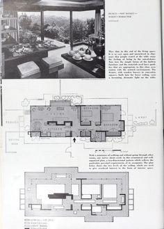 Frank Lloyd Wright, Floor Plans, Floor Plan Drawing, House Floor Plans