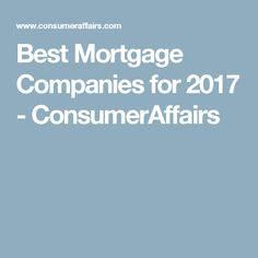 compare mortgage companies