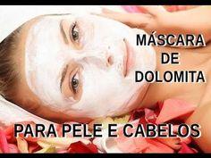 Máscara de dolomita para pele e cabelos