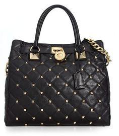 Michael Kors Handbag, Hamilton Quilted Large Tote | Macy's