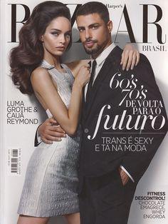 Cauã Reymond And Luma Grothe  In Harper's Bazaar Brazil