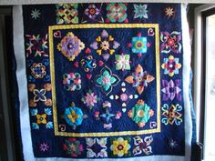 pretty needle turned applique quilt
