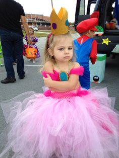 Princess peach tutu dress with foam cut outs  sc 1 st  Pinterest & Princess Peach Tutu Dress and Crown   Costume Ideas   Pinterest ...