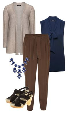 """""""Brown and Navy"""" by tamara-leaf-sortman on Polyvore featuring M&Co, Sandra Portelli and Raoul"""
