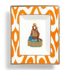 Love this Monkey Rectangular Ceramic Plate for $38 on C. Wonder