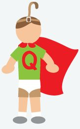 DIY Halloween Costume: Quail Man - Throw on a pair of khaki shorts. Put on a green t-shirt. Grab a pair of tighty whities and put them on over your shorts and tuck your green shirt into the underwear. With red tape, tape the letter Q to your shirt. Take a red bath towel and tie it around your neck to make a cape. To add the perfect finishing touch, take a brown belt and fasten it around your forehead.