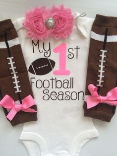 INFANT Girl outfit My 1st Football Season baby by AboutASprout