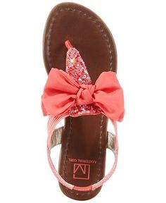 Material Girl Swan Flat Thong Sandals - Sandals - Shoes - Macy's