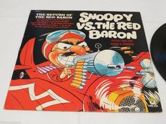 Snoopy VS. The Red Baron return of N8054 Peter Pan LP RARE album vinyl record