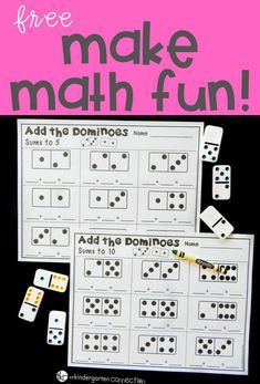 Learning to count is a skill that continues to develop from counting single groups into counting and combining sets. Math Board Games, Math Boards, Math Games, Math Activities, Therapy Activities, Preschool Math, Kindergarten Classroom, Fun Math, Teaching Math