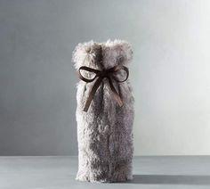 aa1bb47013 Faux Fur Wine Bag - Chinchilla