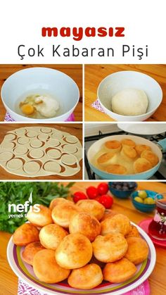 Pastry Recipes, Cooking Recipes, Biscuits, Turkish Recipes, Healthy Appetizers, Kids Meals, Deserts, Food And Drink, Snacks