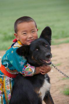 Me and my dog . Mongolia