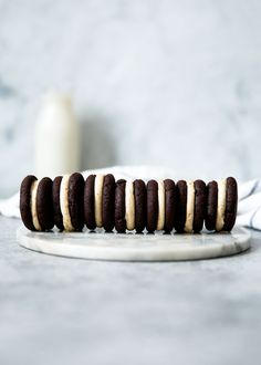 Espresso Brownie Sandwich Cookies