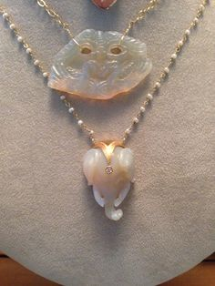 The power of opal  #carvings #energy #opals #oneofakind #necklaces #swcj Info@swdjewelry.com