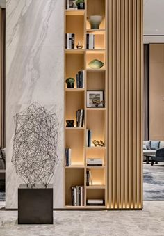 Modern room partitions have many uses. They can divide a large room into smaller areas, separate a room, enhance your … Living Room Partition Design, Room Partition Designs, Room Partition Wall, Partition Ideas, Interior Design Living Room, Living Room Designs, Living Room Decor, Living Room Divider, Modern Apartment Design