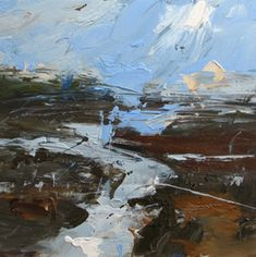 Artist Louise Balaam creates atmospheric landscapes and abstract paintings in Sevenoaks, Kent, South East England, uk Landscape Art, Landscape Paintings, Abstract Paintings, Art Paintings, Impressionist Landscape, Abstract Portrait, Portrait Paintings, Contemporary Abstract Art, Modern Art