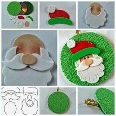 Risultati immagini per moldes de natal Christmas Makes, Christmas Art, Christmas Projects, Holiday Crafts, Christmas Holidays, Father Christmas, Christmas Templates, Cd Crafts, Felt Crafts