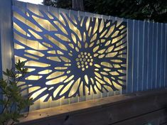 Laser Cut Decorative Metal Wall Art Panel Sculpture for with optional lighting // Benbecula Laser Cut Lamps, Laser Cut Panels, Laser Cut Screens, Laser Cut Metal, Laser Cutting, Cnc Cutting Design, Garden Wall Designs, Metal Wall Art Decor, Patio Wall Decor