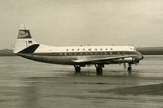 Vickers Viscount 800 Aviation Airliner Airplane Lufthansa Old Photo 1960 | eBay