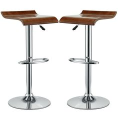 Bentwood Bar Stool Set of 2 in Oak