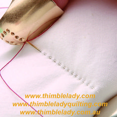 Thimblelady& famous hand quilting thimbles make it easy to achieving perfect stitches every time. Try the best hand quilting thimble today. Machine Quilting Patterns, Longarm Quilting, Quilting Tips, Quilting Tutorials, Quilt Patterns, Quilting For Beginners, Couture, Hand Sewing, Vintage