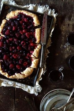 Mixed Berry Tart via Bakers Royale