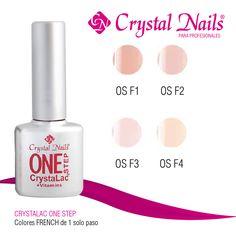 #Colores #CrystalacOneStep #French de #CrystalNails