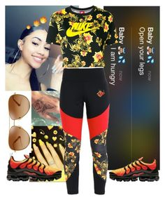 """SHE IS MY ROCK OCK OCK OCK OCK OCK OCK "" by anatasha67 ❤ liked on Polyvore featuring NIKE and Tory Burch"