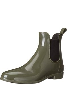 Sam Edelman Women's Tinsley Rain Boot, Moss Green/Black, 7 M US Best Price