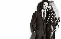 Burberry -  Models: Tom Sturridge and Sienna Miller  Photographer: Mario Testino