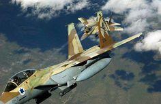 Israeli Boeing F-15 Eagles. Known as F-15I Raam in Israeli service.