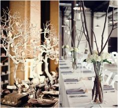 Branch Out with Elegant Centerpieces - MODwedding