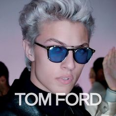 Introducing the TOM FORD Spring/Summer 2016 ad campaign shot by Nick Knight in Los Angeles, featuring Lucky Blue Smith, Mica Arganaraz, and Lida Fox. Tom Ford Sunglasses, Sunglasses Women, Lucky B Smith, Tom Ford Eyewear, Lucky Blue, Tom Ford Men, Gq Style, Look Cool, Rpg