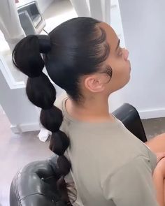 49 Attractive Ponytail Ideas For Women Short Hairstyle Hair Ponytail Styles, Weave Ponytail Hairstyles, Sleek Ponytail, Baddie Hairstyles, My Hairstyle, Curly Hair Styles, Natural Hair Styles, Hairstyles Haircuts, Wedding Hairstyles