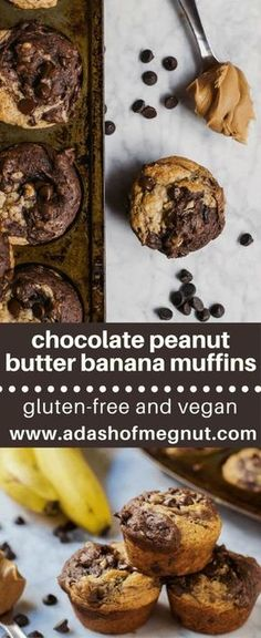 Chocolate peanut butter banana muffins plus The 9 Best Gluten Free Muffins Recipes for Breakfast