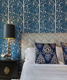 Blue is the most popular color, and its peaceful and casual vibe makes it perfect for the bedroom. Here's how to decorate with your favorite color.