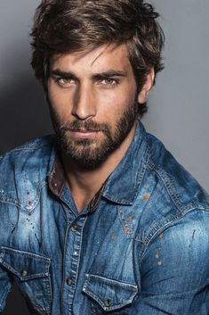 His hair, eyebrows, moustache and beard. Hot Men, Hot Guys, Beard Styles For Men, Hair And Beard Styles, Beautiful Men Faces, Gorgeous Men, Awesome Beards, Handsome Faces, Hommes Sexy