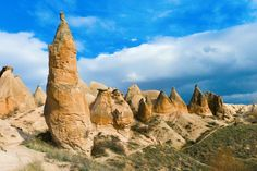 Cappadocia in central Anatolia is a result of both natural forces and human intervention. Volcanic e... - Knet2d | Dreamstime.com