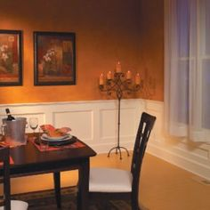 How to Build a Wainscoted Wall .Elegant, traditional wainscoting looks like an intimidating project, but with this simple, easy-to-assemble design even a moderately skilled DIYer can transform an ordinary room into a showplace. Dining Room Wainscoting, Wainscoting Panels, Black Wainscoting, Painted Wainscoting, Wainscoting Ideas, Wainscoting Height, Wainscoting Nursery, Design Light, Diy Home Improvement