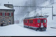 47 RhB - Rhätische Bahn ABe 4/4 at Alp Grüm, Switzerland by Georg Trüb